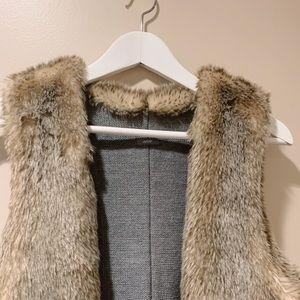 NEW American Eagle Fur Vest size S